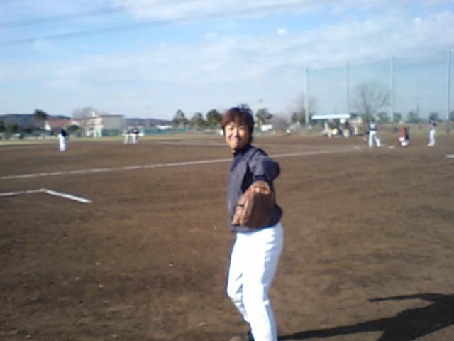 今日は野球です