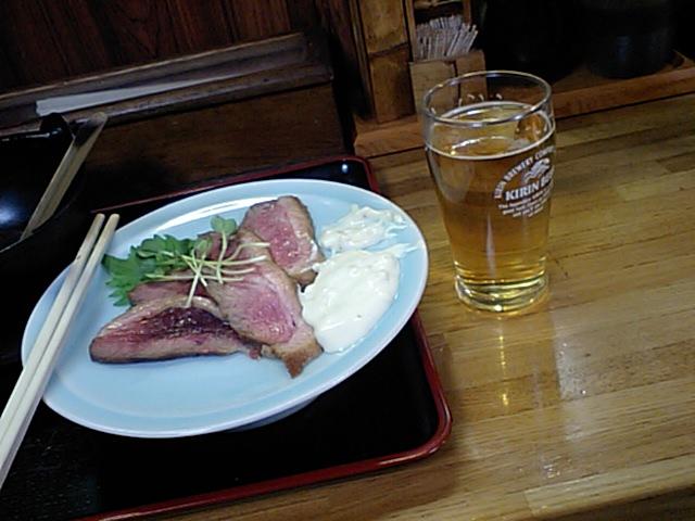 鴨ロースとビール