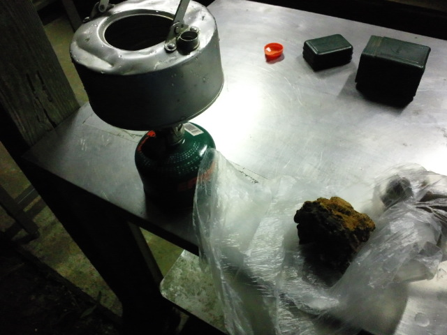 チャーガ茶作成中
